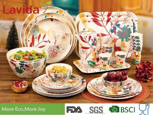 jaune//girafe N/ûby Vaisselle dapprentissage 5 pi/èces avec fibres de bambou vaisselle b/éb/é