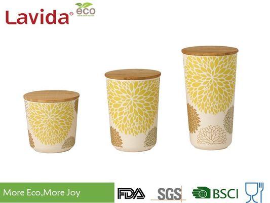 Boîte de rangement en bambou sûre de fibre de lave-vaisselle ...